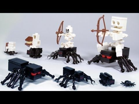 How To Build: LEGO Minecraft Spiders & Spider Jockey - YouTube