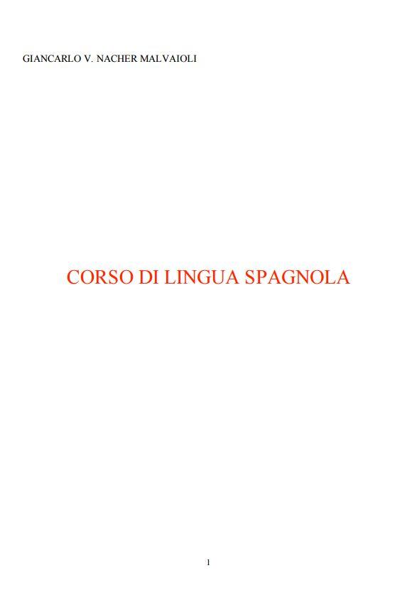 CORSO DI LINGUA SPAGNOLA - Scitum