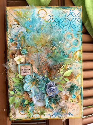 Crafty Life Challenges: Passion.....Canvas from Katerina...