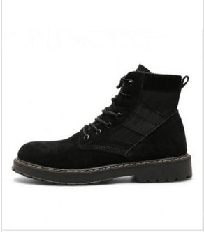 Wholesale price: US$ 13.71 With The Explosion Of The Wolf Fall Male Korean Martin Shoes Boots For Men British Army Boots Tooling Boots Black