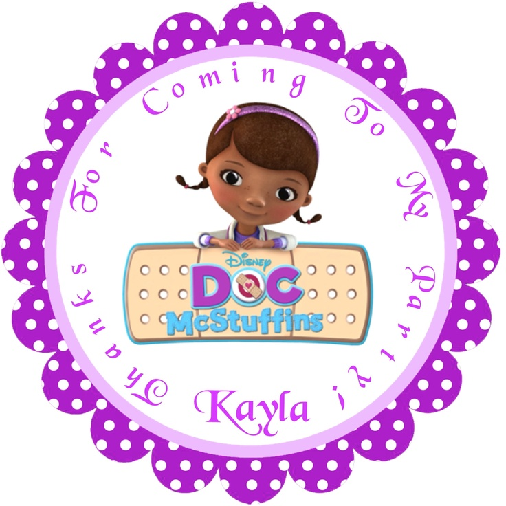 doc mcstuffins personalized stickers party favors birthday
