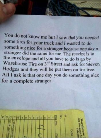 Random Acts Of Kindness - WHOA!  That is AWESOME!