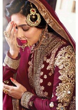 magenta costume georgette Anarkali, - 136,00 €, #LaModeIndienne #AnarkaliBijoux #TenueIndou #Shopkund