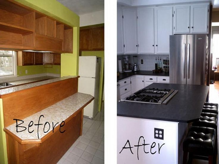 18 best images about small kitchen remodel before and after on pinterest renovated kitchen - Remodeling a small kitchen before and after ...