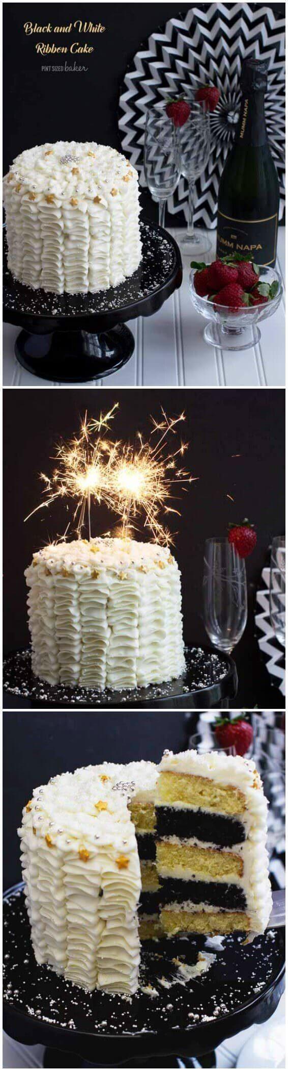 24+ Elegant Image of White And Black Birthday Cakes –  #birthday #black #cakes #elegant #imag… – Birthday Cake  Ideen