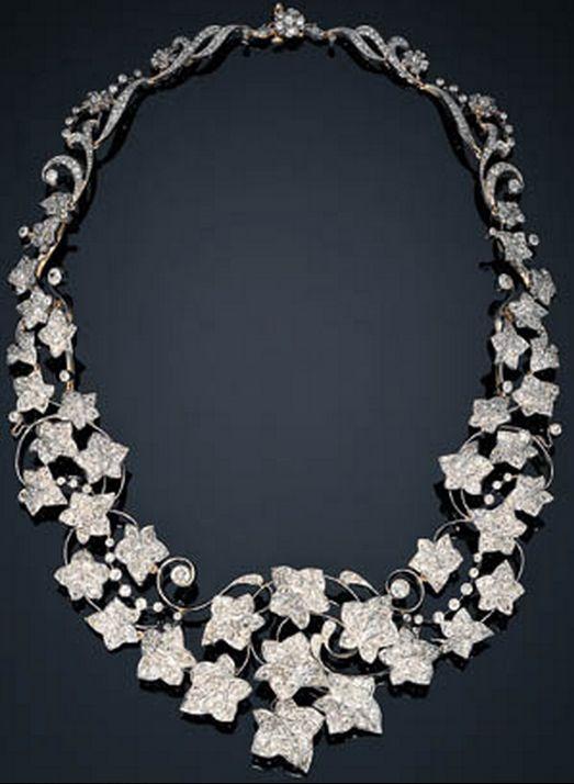 "Diamond ""Ivy"" necklace by Tiffany & Co., circa 1895"