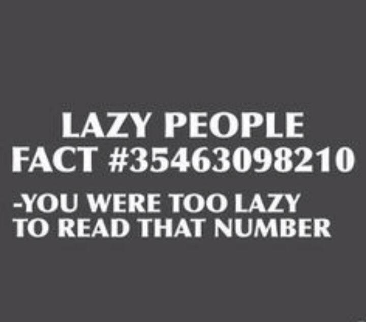 Yep I'm lazy