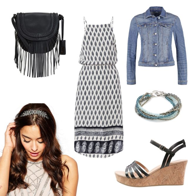 OneOutfitPerDay 2016-07-11 - #ootd #outfit #fashion #oneoutfitperday #fashionblogger #fashionbloggerde #frauenoutfit #herbstoutfit - Frauen Outfit Outfit des Tages Sommer Outfit Armband ASOS Freizeitkleid Hallhuber Jacke Jeans Jeansjacke Kleid O'Neill Plateausandalette Sandalette Satteltasche Sommerkleid Sportkleid Stones in Style Tasche Tom Tailor Ugg Australia