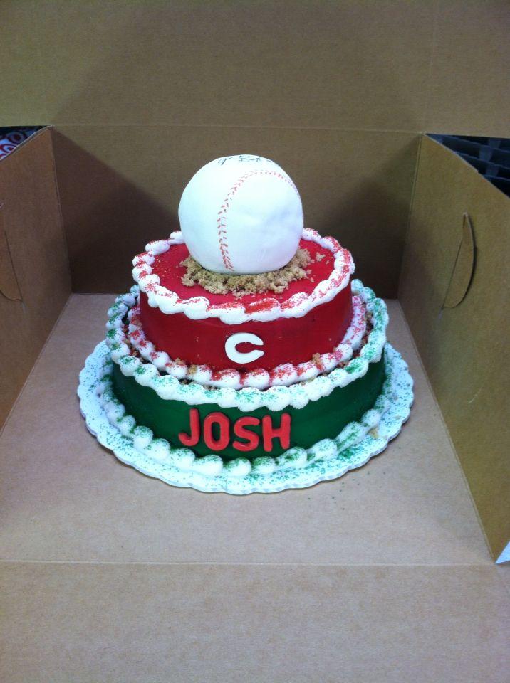 Baseball Cincinnati Red birthday cake