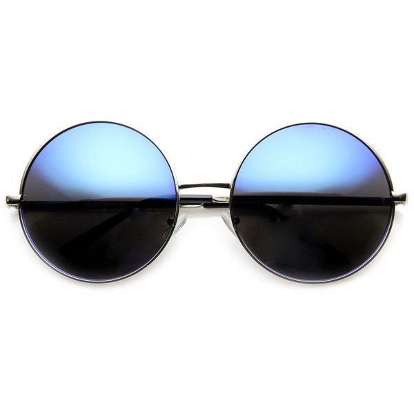 Women's Retro Metal Oversize Revo Lens Sunglasses 9752 ($9.99) ❤ liked on Polyvore featuring accessories, eyewear, sunglasses, metal sunglasses, circle lens glasses, circular glasses, retro circle sunglasses and oversized sunglasses