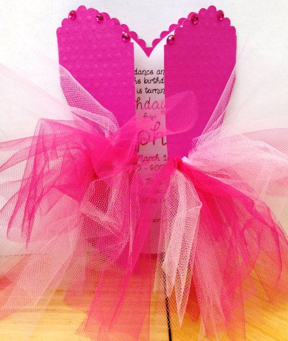 Pink ballerina tutu invitations by icingontheparty on etsy for Pin the tutu on the ballerina template