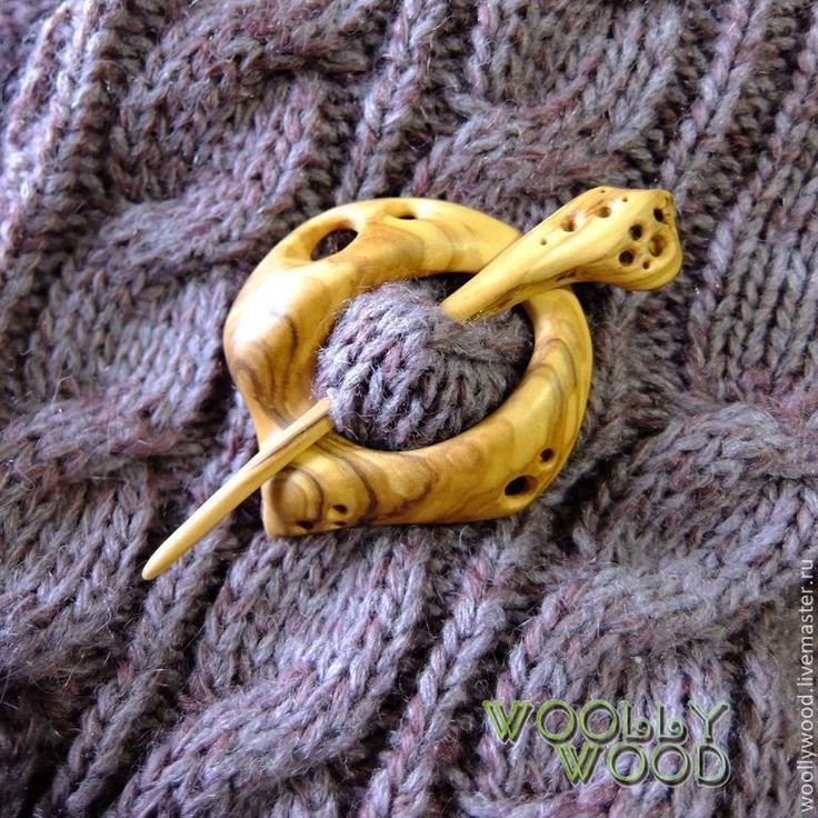 Купить Заколка для шали из дерева - брошь ручной работы, брошь из дерева, натуральное дерево