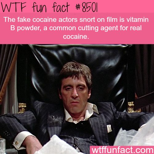What is the fake cocaine actors snort in movies - WTF fun facts