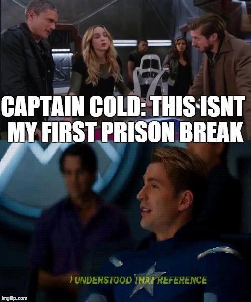 Legends of Tomorrow /Prison break funny meme.
