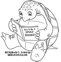 Turtleone Of Several Cute Critters Reading Books On This Free Coloring Library