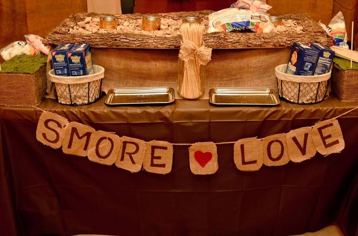 Rustic Wedding DIY S'mores Bar