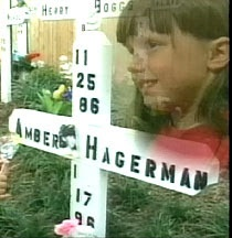 "On the afternoon of January 13, 1996, Amber Hagerman, 9,was riding her bicycle in Arlington, Texas, when a neighbor heard her scream. He saw a man pull Amber off her bike, throw her into the front seat of his pickup truck, and drive away at a high rate of speed. Four days later a man walking his dog found her body in a creek bed. Her throat was cut, but not until two days after her abduction. Amber leaves behind a legacy... The ""Amber Alert"", a public notification system for missing…"
