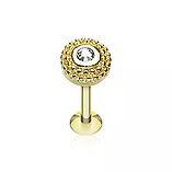Vente de piercing levre en or, titane et acier 316L, choisissez votre bijou parmi nos modèles.