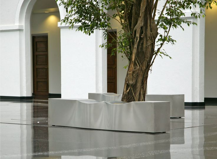 Superb The Sculpture Is A Refined Minimalist Bench Created Out Of Stainless Steel.  Ideal For Use In Galleries, Corridor Areas, Atriums And Other Public  Spaces, ...