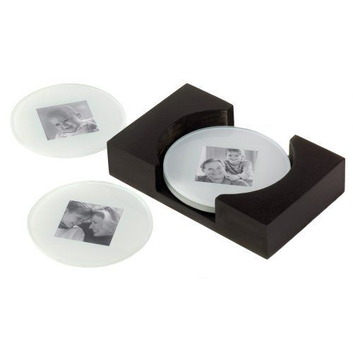 Sara D Ward Collection Drink Coffee Table Photo Glass Coaster, Set of 4 by Sara D Ward Collection. $8.40. Joyful way to capture family togetherness. Each coaster holds a 2-inch by 2-inch photo. Circular glass photo coasters with a wooden box. Makes a great party favor or practical gift idea. Set measures 7-1/4-inches by 2-1/4-inches by 5-1/2-inches. Crafty coasters are an intriguing way to personalize your decor. Your best 2-inch by 2-inch pictures take center stage amid ...