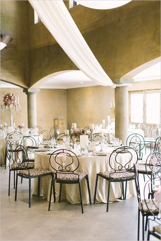 clean and classic wedding reception decor