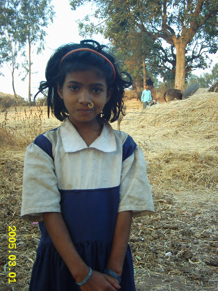 Beautiful School Girl From A Small Village Outside Nasik  India -3524