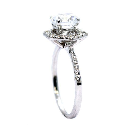 Unique Hexagon Shaped Floating Halo 2 Carat Forever by MondiNYC