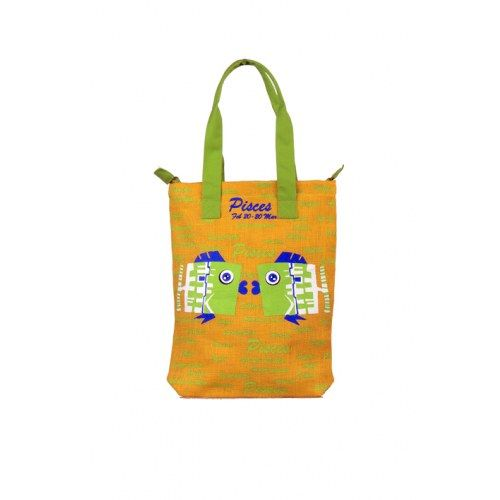 Pices Jute Yellow Bag