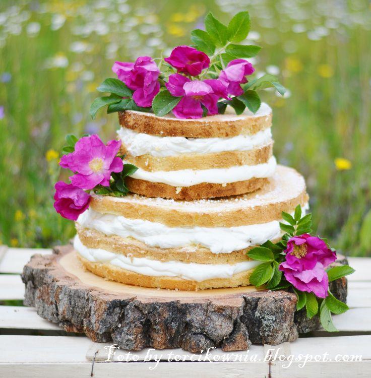 Podstawka pod tort z plastra drewna (brzozy)