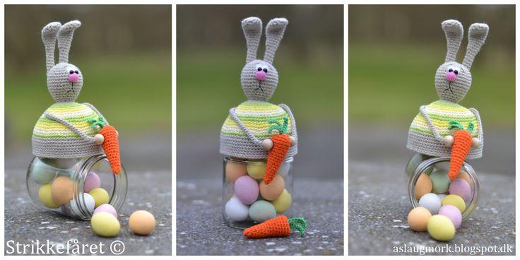 Strikkefåret: Hæklet påske kanin