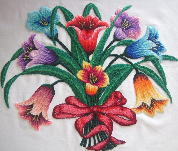 Mejores 40 im genes de bordado ruso aguja pika pika en for Como hacer alfombras en bordado chino