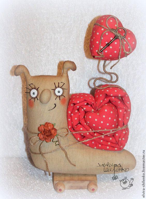 Купить Сердешная улитка - ярко-красный, улитка, улиточка, сердце, подарок влюбленным, подарок для любимой