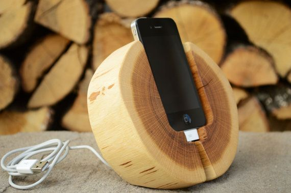 iPhone Docking Station Wooden iPhone Charging by WoodRestart