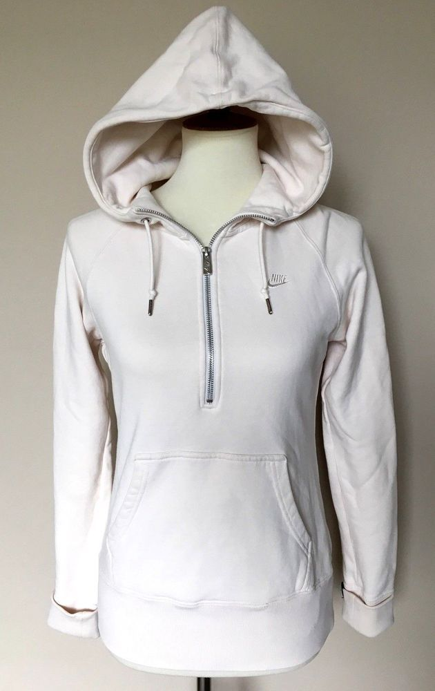 c512f7d01478 Women s NIKE Small Ivory Cream Hooded Sweatshirt Running Pullover Athletic  Sport