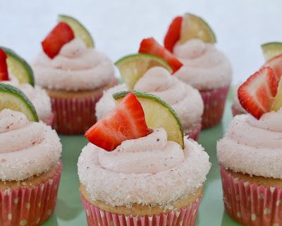 Beki Cook's Cake Blog: Strawberry Margarita Cupcakes {Recipe}