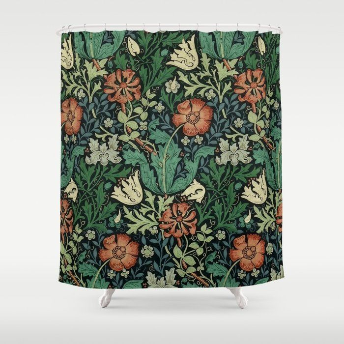 Buy William Morris Compton Floral Art Nouveau Pattern Shower