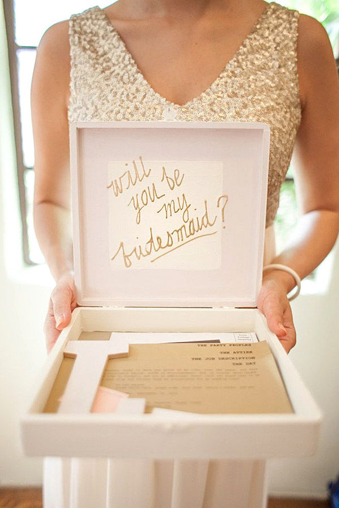 "If you have chosen bridesmaids for your wedding, it is time to ask your ladies ""Will you be my bridesmaid?"" Here are some gorgeous bridesmaid proposal ideas"