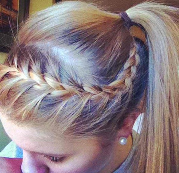French braided head band.