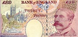 Elgar on a £20 British banknote