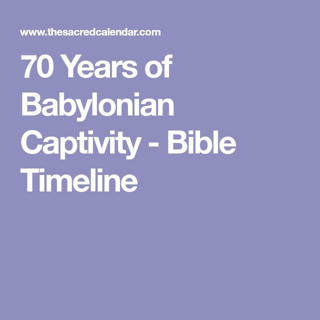 70 Years of Babylonian Captivity - Bible Timeline