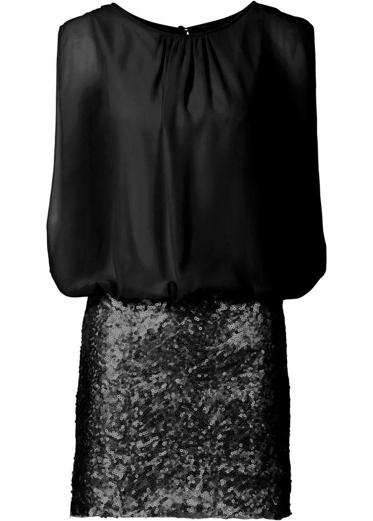 Jurk zwart - BODYFLIRT nu in de onlineshop van bonprix-fl.be vanaf 41,99 ? bestellen. Stijlvolle jurk van het merk BODYFLIRT met mooie pailletten op de rok. ...