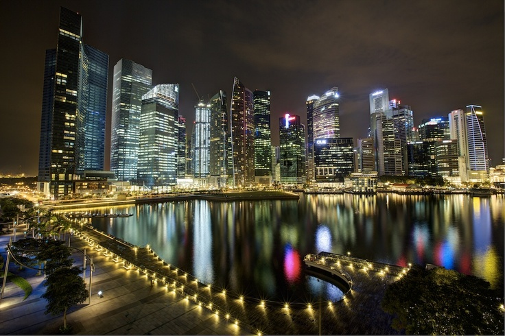 Singapore Marina Sands Bay. HDR.