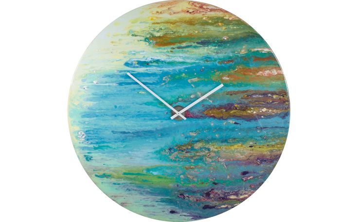 Light Blue Glass Clock for the Dining Room