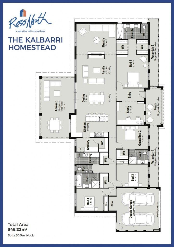 Stupendous The Kalbarri Homestead Single Storey Home Floorplan Ross Home Interior And Landscaping Oversignezvosmurscom
