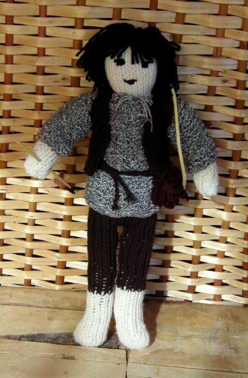Knitted Ronia the Robber's Daughter stuffed by DucklingInOakum