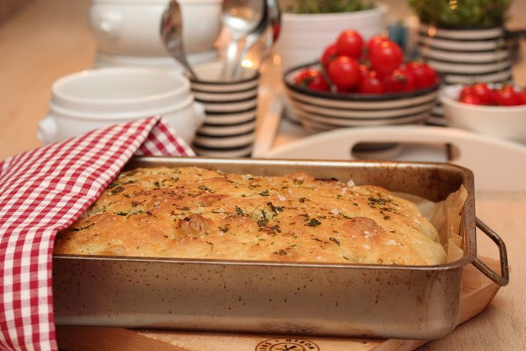 Foccacia with herb oil and maldon salt