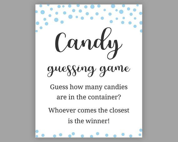Candy guessing game template ideas