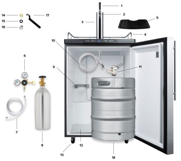 How To Set Up A Kegerator A Step By Step Assembly Guide In 2020 Kegerator Draft Beer Beer 101