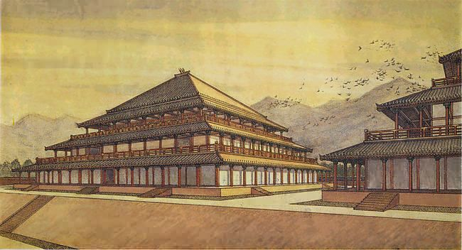 A Zhou dynasty palace. The Zhou era was the final period of ...