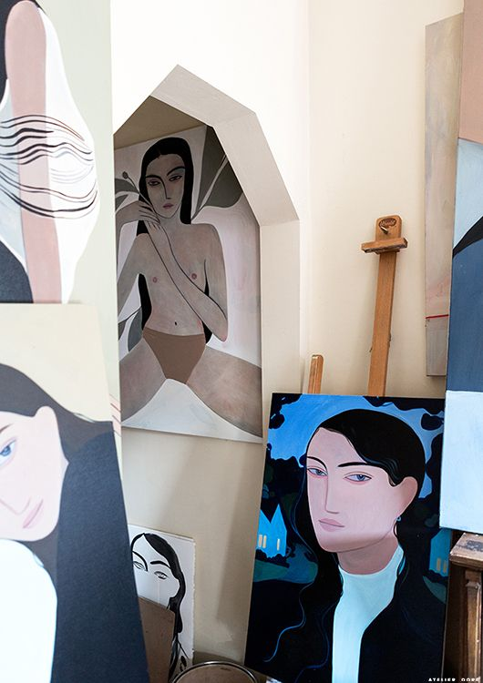 In the studio with Kelly Beeman.